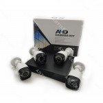 KIT DVR 4CH 1080N+4 CAM 720P+HDD 500GB