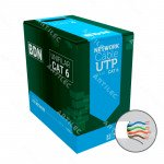 CABLE U/UTP CAT6 BDN 23AWG BLANCO 305M COBRE