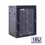 GABINETE RACK 18U PARED NEGRO 60CM