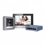 KIT PORTERO AUDIO-VIDEO IP CON PANTALLA HIKVISION