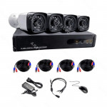 KIT DVR 4CH 1080N+4 CAMARAS HD 720P