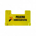 PLACA ADVERTENCIA CERCO ELECTRICO RESISTENTE
