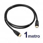 CABLE HDMI MACHO 1MT NEGRO V1.4