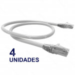 PATCH CORD U/UTP CAT6 BDN 30CM BLANCO COBRE LSZH (4U)