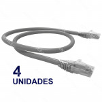 PATCH CORD U/UTP CAT6 BDN 30CM GRIS COBRE LSZH (4U)