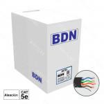 CABLE U/UTP EXTERIOR CAT5E BDN 305M ALEACION