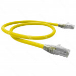 PATCH CORD U/UTP CAT6 BDN AMARILLO 1M COBRE LSZH ETL