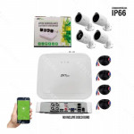 KIT DVR 4CH 1080P LITE 4 CAMARAS 720P 8304XEC-S/BS31A11B