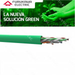 CABLE U/UTP CAT6 FURUKAWA 23AWG 305M LSZH GREEN