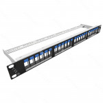 PATCH PANEL DESCARGADO BLINDADO FURUKAWA 24P 1U CON ICONOS