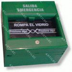 PULSADOR DE SALIDA EMERGENCIA QUIEBRE DE VIDRIO NA-NC