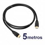 CABLE HDMI MACHO 5MT NEGRO V1.4