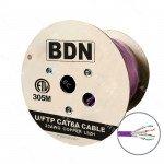 CABLE U/FTP CAT6A BDN 23AWG LSZH VIOLETA 305M ETL