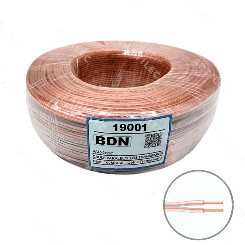 CABLE PARALELO TRANSPARENTE BDN 2X24