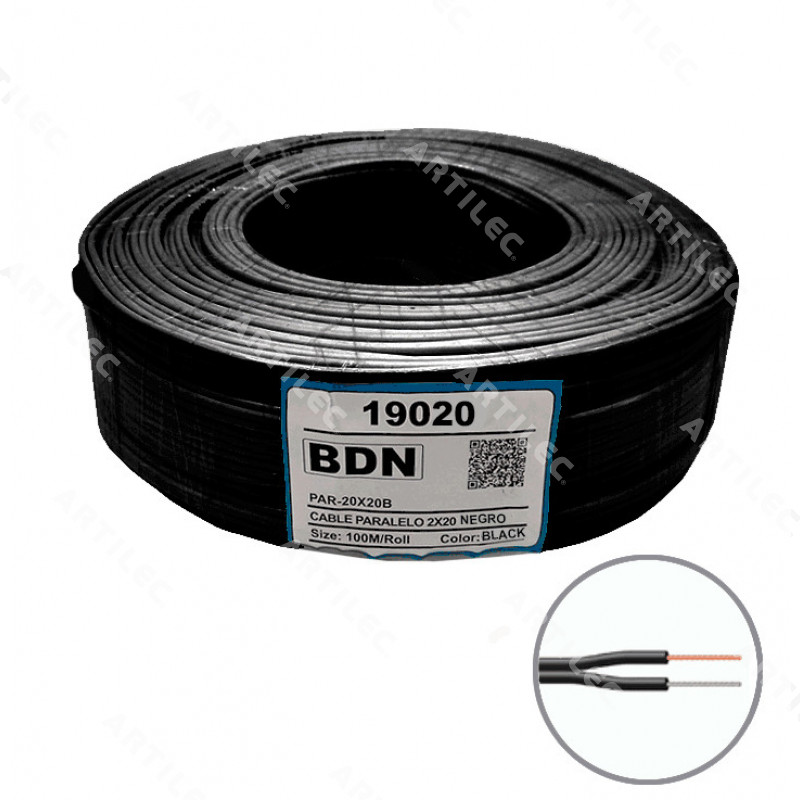 CABLE PARALELO NEGRO BDN 2X20