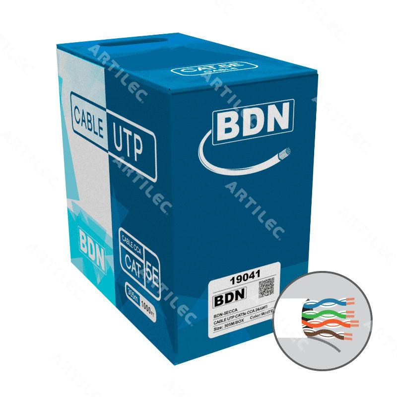 CABLE U/ UTP CAT5E BDN 24AWG BLANCO 305M CCA