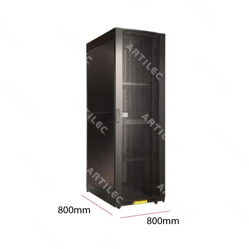 GABINETE RACK 42U PISO NEGRO 800MM X 800MM