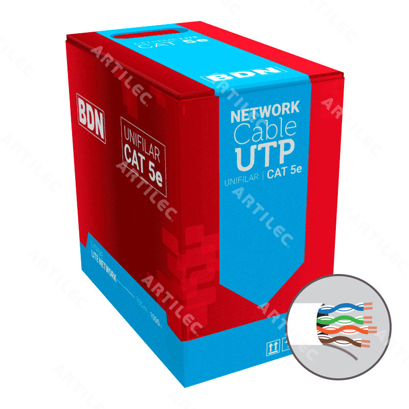 CABLE U/UTP CAT5E BDN 24AWG BLANCO 305M
