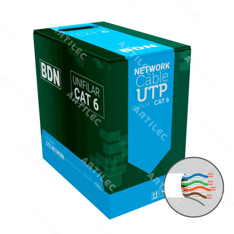 CABLE U/UTP CAT6 BDN 23AWG BLANCO 305M COBRE