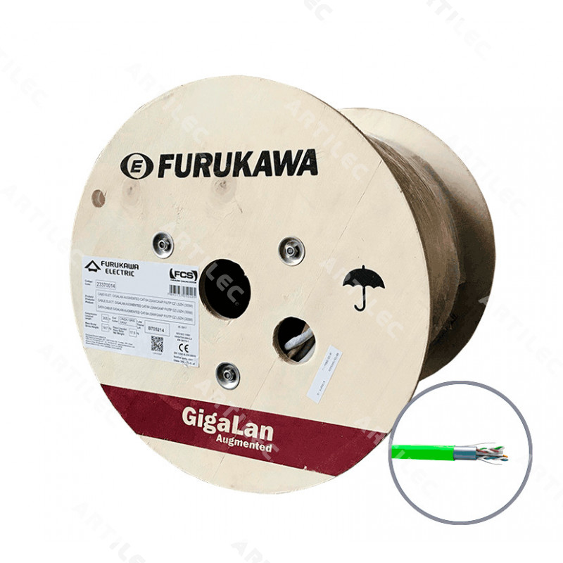 CABLE GIGALAN AUGMENTED F/UTP CAT6A 23AWG LSZH