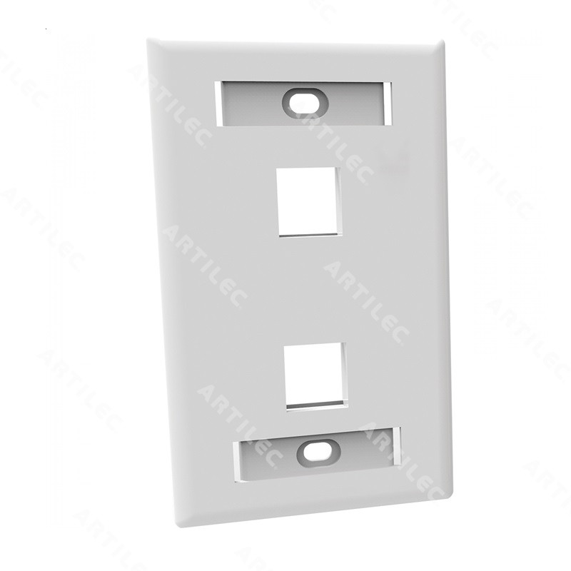 FACEPLATE PLANO 2P - GLOSSY - BLANCO
