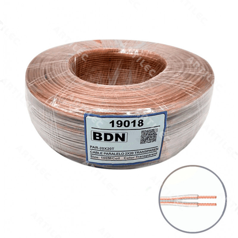 CABLE PARALELO TRANSPARENTE BDN 2X20