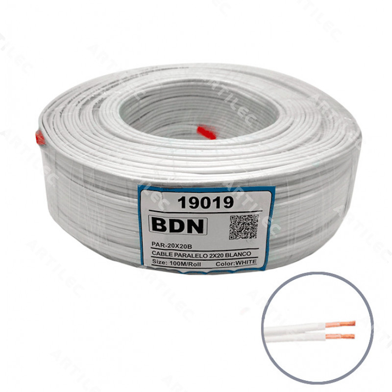 CABLE PARALELO BLANCO BDN 2X20