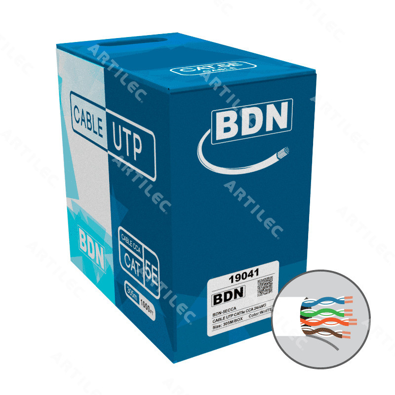CABLE U/ UTP CAT5E BDN 24AWG BLANCO 305M CCA