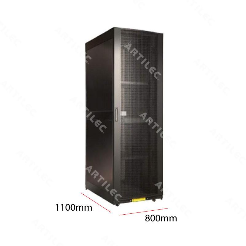 GABINETE RACK 42U PISO NEGRO 800MM X 1100MM