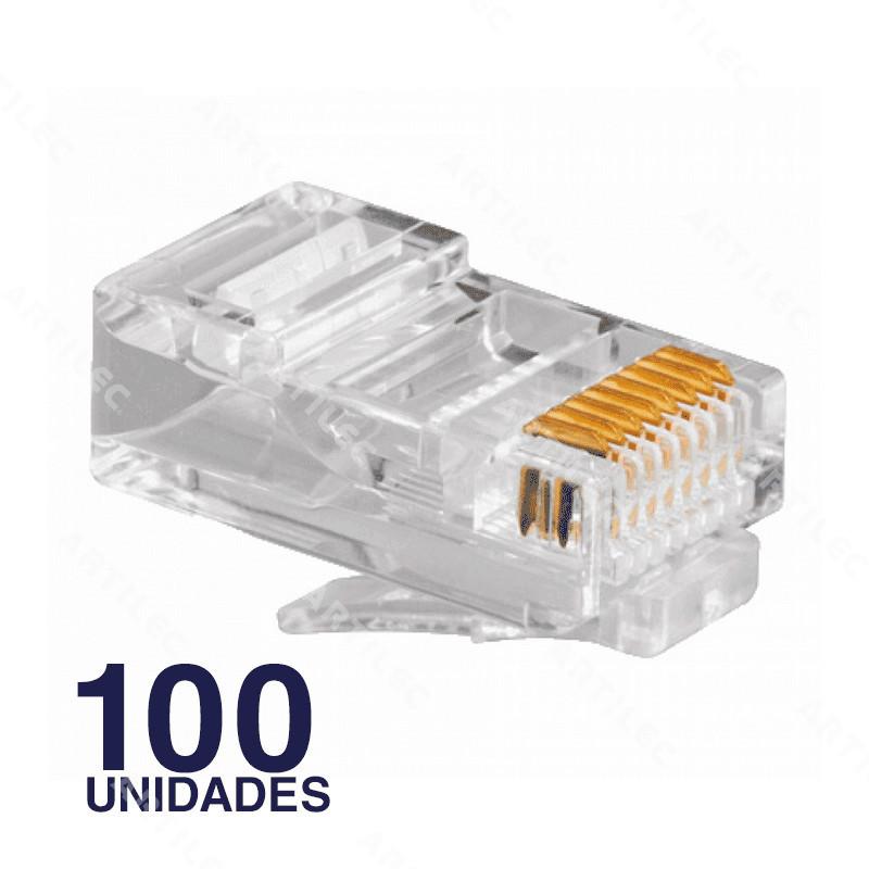 CONECTOR MACHO RJ45 CAT6 BDN (100U)
