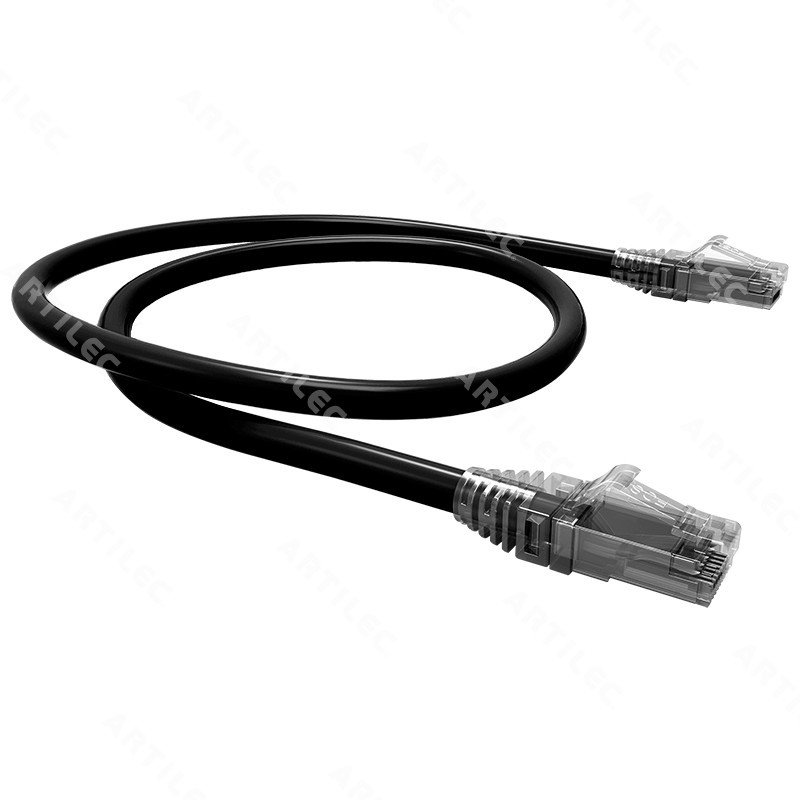 PATCH CORD U/UTP CAT6 BDN NEGRO 2M COBRE LSZH ETL