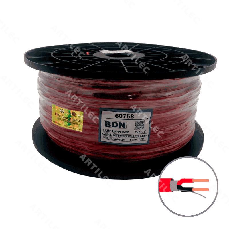 CABLE INCENDIO ROJO BDN 2X18 C/P LSZH