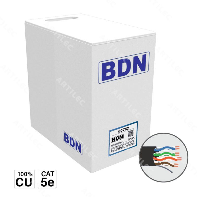 CABLE U/UTP EXTERIOR CAT5E BDN 305M COBRE
